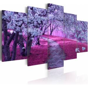 Canvas Print Trees: The Road of Love
