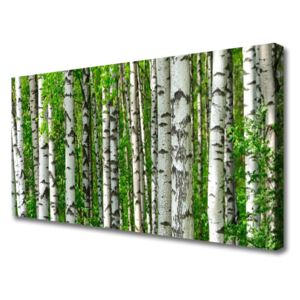 Canvas Wall art Forest nature black white green 100x50 cm