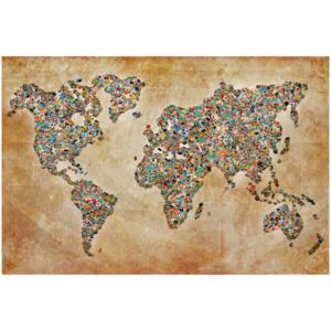 Corkboard Map Decorative Pinboards: Postcards from the World [Cork Map]