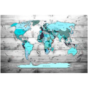 Corkboard Map Decorative Pinboards: Blue Continents [Cork Map]