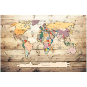 Corkboard Map Decorative Pinboards: The World at Your Fingertips [Cork Map]