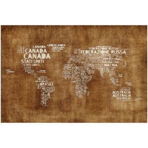 Corkboard Map Decorative Pinboards: The Lost Map [Cork Map - Italian Text]
