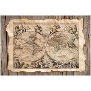 Corkboard Map Decorative Pinboards: Map of the Past [Cork Map]