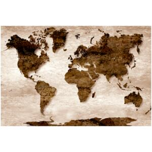 Corkboard Map Decorative Pinboards: The Brown Earth [Cork Map]