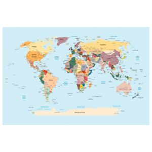 Corkboard Map Decorative Pinboards: Travel with Me [Cork Map]