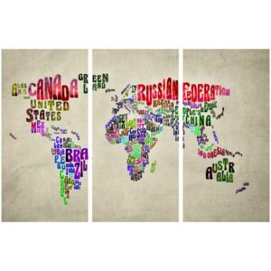 Corkboard Map Decorative Pinboards: Colorful Countries [Cork Map]