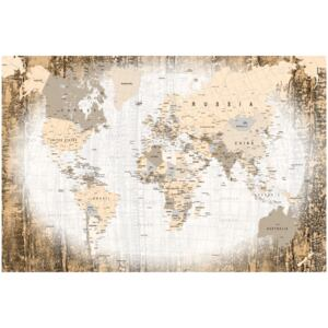 Corkboard Map Decorative Pinboards: Enclave of the World [Cork Map]