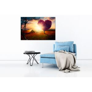 Canvas Print Trees: Hills of Love