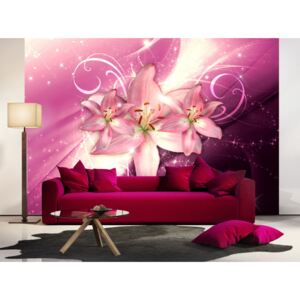 Wall mural Lilies: Pink Constellation