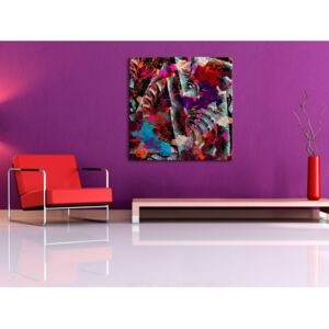 Canvas Print Abstract: Colours of the tropics