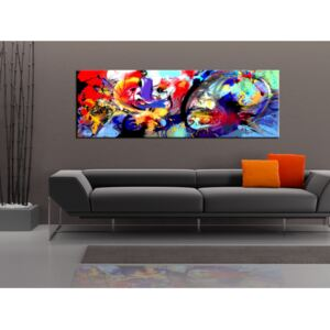 Canvas Print Coloured: Colourful Immersion