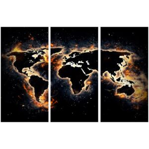 Corkboard Map Decorative Pinboards: Flames of the World [Cork Map]