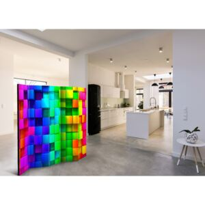 Room divider: Colourful Cubes II [Room Dividers]