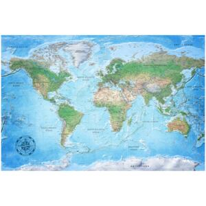 Corkboard Map Decorative Pinboards: Traditional Cartography [Cork Map]
