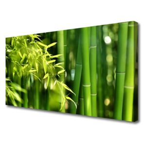 Canvas Wall art Bamboo leaves floral green 100x50 cm