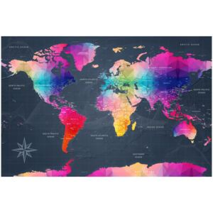 Corkboard Map Decorative Pinboards: Colourful Crystals [Cork Map]