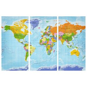 Corkboard Map Decorative Pinboards: World Map: Countries Flags II [Cork Map]