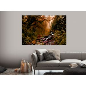 Canvas Print Forest: Autumn Waterfall