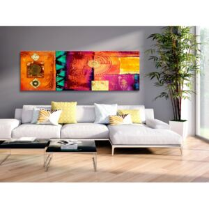 Canvas Print Coloured: Orange Abstraction