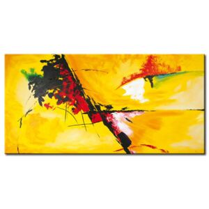 Canvas Print Abstract: Sunny and colourful
