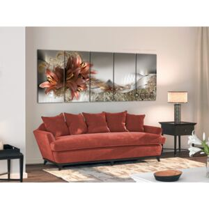 Canvas Print Floral Motifs: Lilies and Abstraction