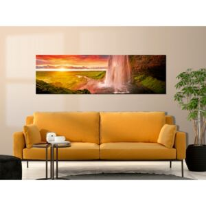 Canvas Print Sunrises and Sunsets: Summer in Iceland