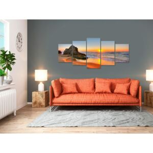 Canvas Print Sea: New Day (5 Parts) Wide