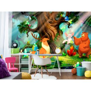 Wall mural For Children: Bear and Friends