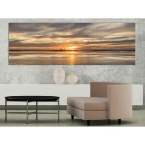 Canvas Print Sunrises and Sunsets: Cloudy Evening (1 Part) Narrow