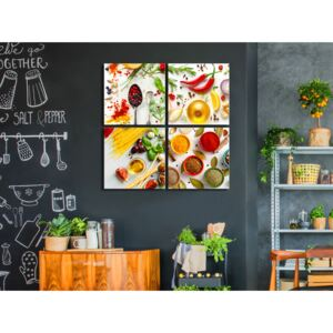 Canvas Print Kitchen: Spices of the World (4 Parts)