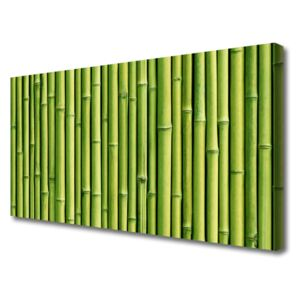 Canvas Wall art Bamboo canes floral green 100x50 cm