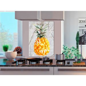 Canvas Print Minimalist: Pineapple and Marble (1 Part) Vertical