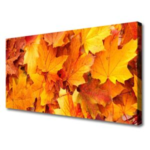 Canvas Wall art Leaves floral yellow 100x50 cm