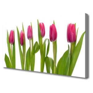 Canvas Wall art Tulips floral red 100x50 cm