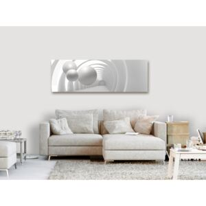 Canvas Print Abstract: White Tunnel (1 Part) Narrow
