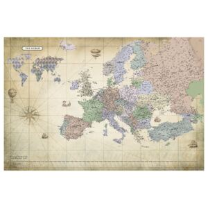Corkboard Map Decorative Pinboards: Map of Europe (1 Part) Wide [Cork Map]
