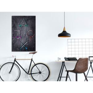Canvas Print For Teenagers: Game Addiction (1 Part) Vertical