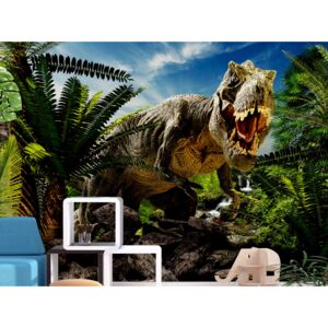 Wall mural For Children: Angry Tyrannosaur