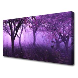 Canvas Wall art Trees nature purple pink 100x50 cm