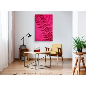 Canvas Print For Teenagers: Tire Trace (1 Part) Vertical