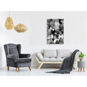 Canvas Print For Teenagers: Black and White Diamonds (1 Part) Vertical