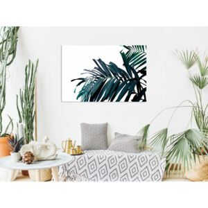 Canvas Print Trees: Emerald Leaves (1 Part) Wide
