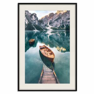 Poster Boats In Dolomites [Poster]