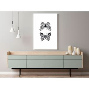 Canvas Print For Teenagers: Two Butterflies (1 Part) Vertical