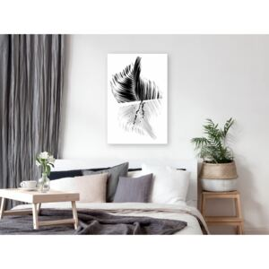 Canvas Print Black and White: Black And White Palm (1 Part) Vertical