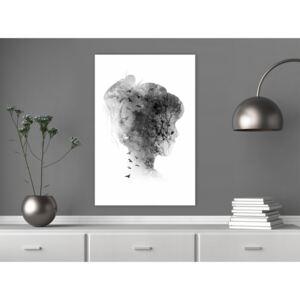 Canvas Print Black and White: Open Mind (1 Part) Vertical