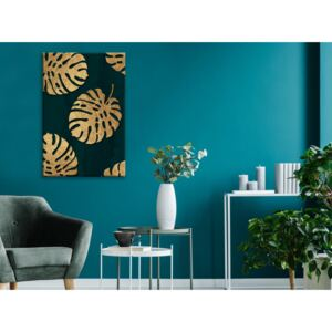 Canvas Print Trees: Leaves of Luxury (1 Part) Vertical