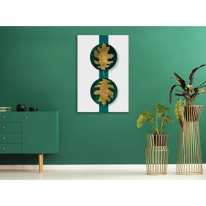Canvas Print Trees: Green Wealth (1 Part) Vertical