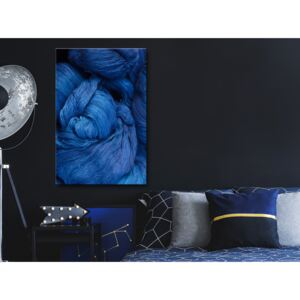 Canvas Print For Teenagers: Blue Worsted (1 Part) Vertical