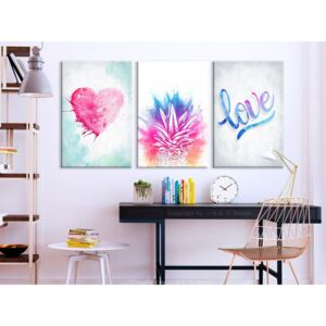 Canvas Print For Teenagers: Tropical Dust (3 Parts)